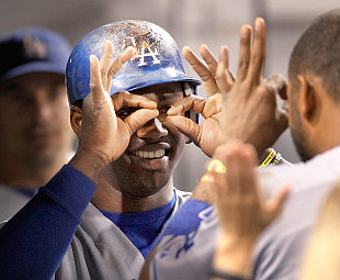 Even Hanley Ramirez can see the Dodgers are in first place. AP)