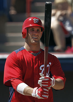 Bryce Harper will start the season as a member of the Syracuse Chiefs. (AP)