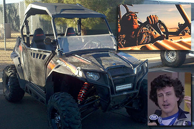 "Did Holland drive this buggy right off the set of Shakur's ""California Love""? (MLB.com)"