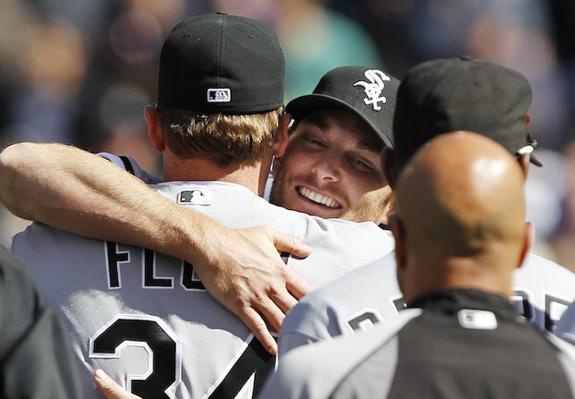 White Sox pitcher Philip Humber pitched the 21st perfect game in baseball history on Saturday. (AP)