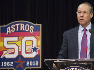 New Astros owner Jim Crane says he's just following MLB's orders. (Getty Images)