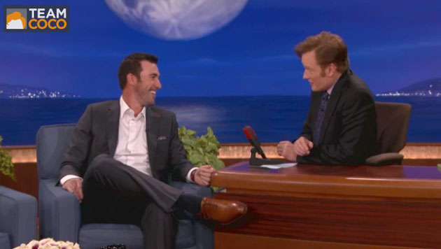 Justin Verlander talked up his favorite Mexican food place on Conan. (TBS)