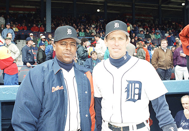 Lou Whitaker (not smiling) and Alan Trammell made up the core of some great Detroit Tigers teams. (AP)