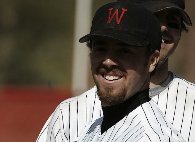 Jeffrey Maier sets the hits record for Wesleyan University in 2006. (AP)