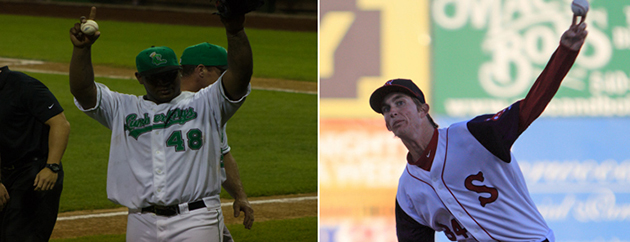 Victor Sanchez (left) and Henry Owens were both part of Single-A no-hitters Wednesday (MILB)