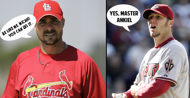 (Ankiel and Owings, AP/BLS illustration)