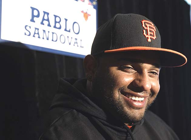 Pablo Sandoval is hitting .320 with three homers in the playoffs. (AP)