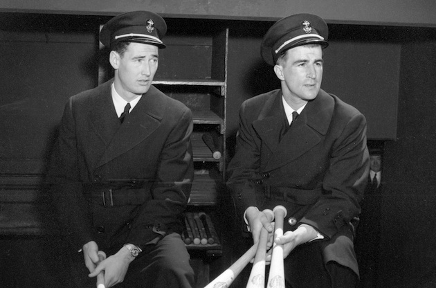 Ted Williams and Johnny Pesky in 1943 (AP)