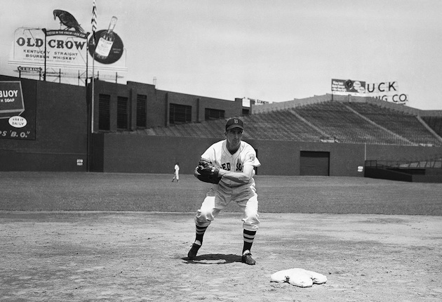 Pesky as a Red Sox rookie in 1942. (AP)