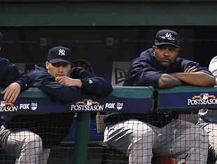 Pettitte (left) and Sabathia during happier times. ... What? (Getty)