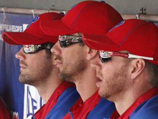 Cole Hamels (left) will become a free agent after the 2012 season. (AP)