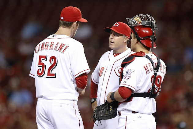 Bryan Price, middle, is expected to be named the next Reds manager. (Getty Images)