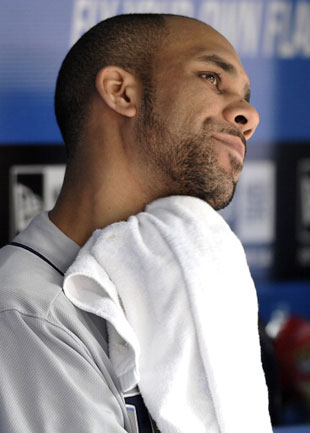 David Price toweled off without incident after a start in 2011. (Getty)