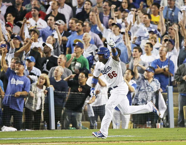 No, Yasiel, it's just a triple. (AP)