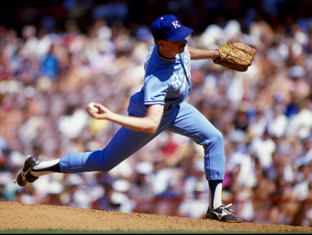 Dan Quisenberry had one of the most memorable deliveries in baseball history. (Getty))