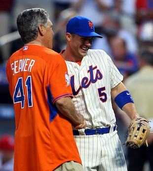 Seaver and David Wright (USA Today Sports)