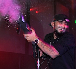 Sergio Romo in Vegas on Dec. 30. (Getty Images)