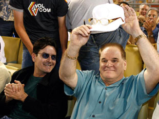 Charlie Sheen and Pete Rose (Getty)