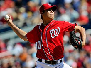 Chien-Ming Wang with the Nationals in 2012. (USA Today)