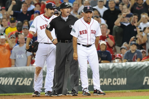 """Good. Use your aggressive feelings, ump. Let the hate flow through you."" (US Presswire)"