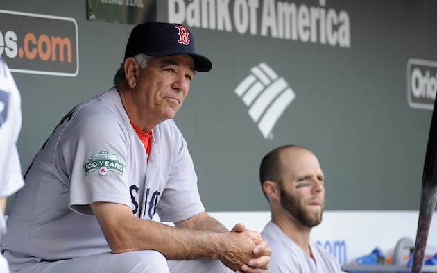 """I'm not going to look, but tell me: What is Pedey doing with that bat?"" (AP)"