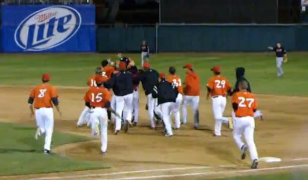 The walk-off that wasn't: Minor league team's boneheaded blunder costs it a win