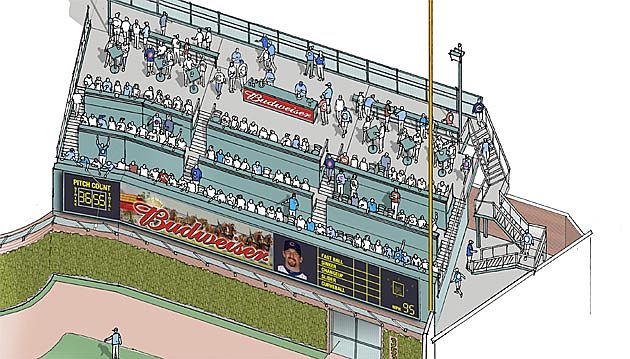 Wrigley Field will feature a patio area that resembles a neighborhood rooftop. (Chicago Cubs)