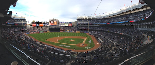 Yankee Stadium just before Friday's first pitch (Jeff Passan)
