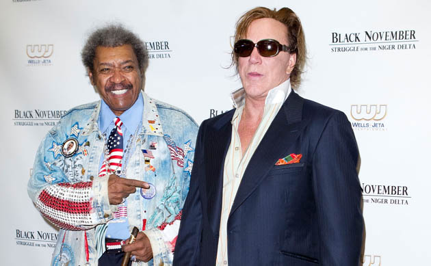 Don King and Mickey Rourke because why not? (Getty)