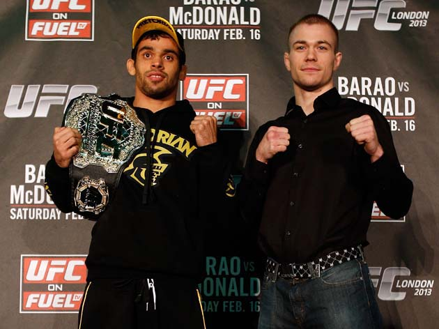Barao and McDonald are co-presidents of the Cool Belt Club. (Getty)
