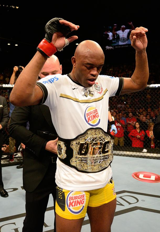 Anderson Silva after his one day of work this year. (Getty)