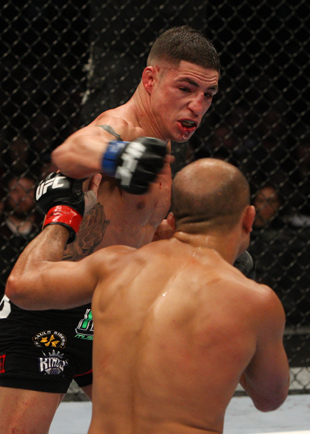 Win or lose, Diego Sanchez (L) is rarely in a bad fight (Getty)