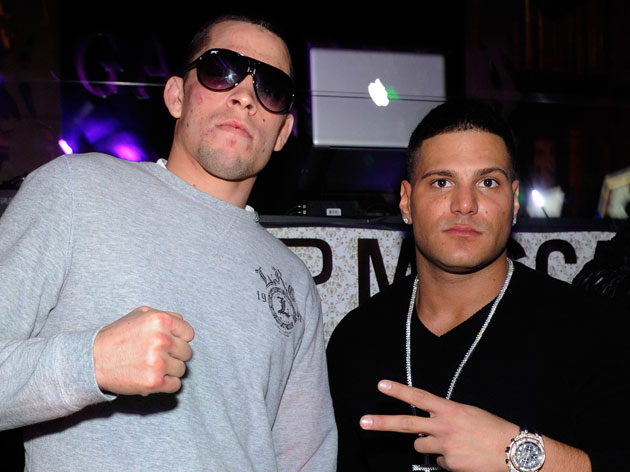 Nate Diaz with 'Jersey Shore' star Ronnie