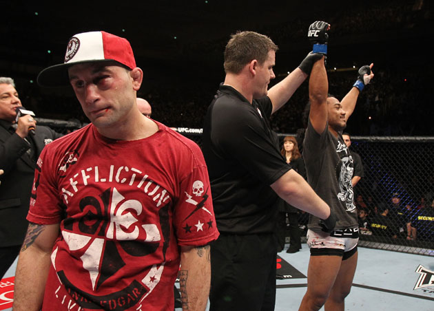 Dejected Edgar after UFC 144 loss (Getty)