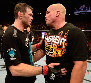 Forrest Griffin (L) defeated Tito Ortiz at UFC 148 (Getty Images)