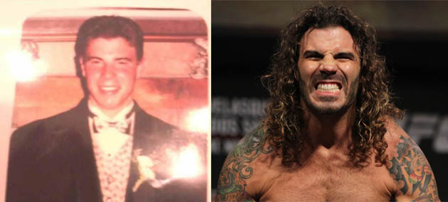 Clay Guida, then and now (Twitter, Zuffa)