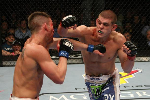 Joe Lauzon's 'punch face'. (Getty)
