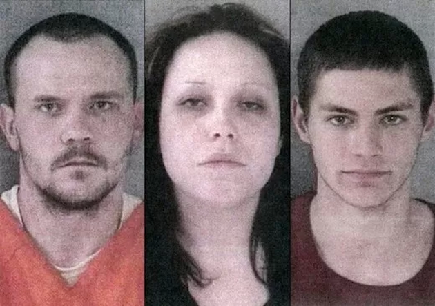 Charles Rowan, Rosalinda Marinez and MIchael Bowman were all arrested and charged with armed robbery and assault with intent to murder. (Gladwin County Sheriff)