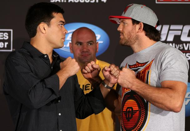Machida and Bader square off. (Getty)