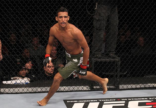 Charles Oliveira celebrates at UFC on Fox 2 (Getty)