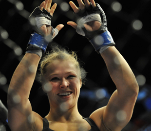 Ronda Rousey's first title defense will be the co-main event at UFC 168 (Getty)