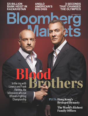 The Fertittas on the cover of Bloomberg Markets.