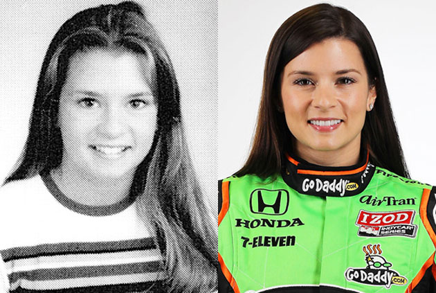Danica Patrick. Seth Poppel/Yearbook Library (left)/Getty Images (right)
