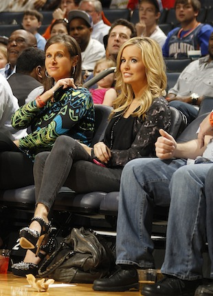 Emily Maynard at a Bobcats game in 2011 (NBAE)