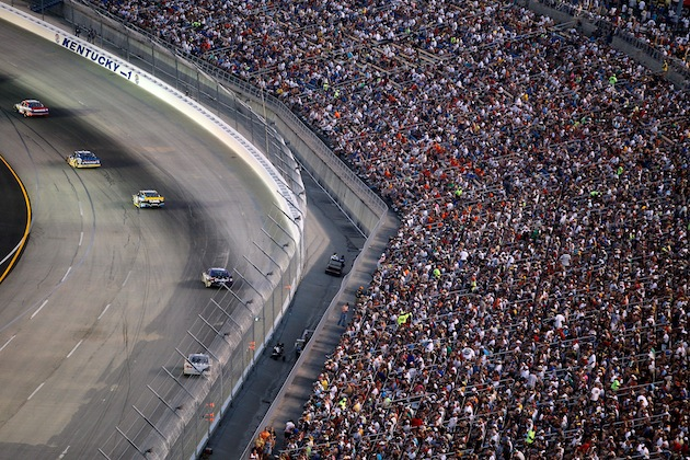 Kentucky track and state officials are hoping that all these folks have an easier time getting to the race this year. (Getty)