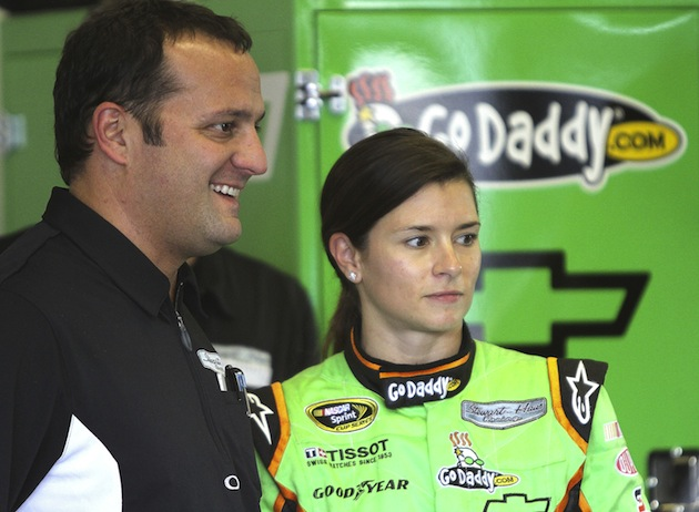 Danica Patrick and Stewart-Haas Competition Director Greg Zipadelli (Getty Images)