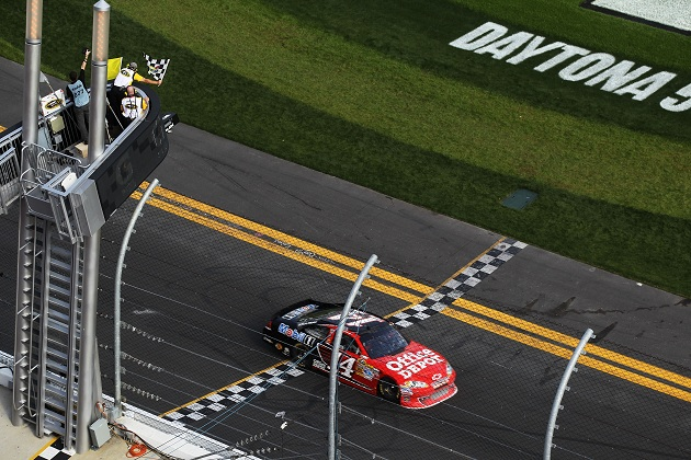 Tony Stewart wins at Daytona ... in the Duels. / Getty Images