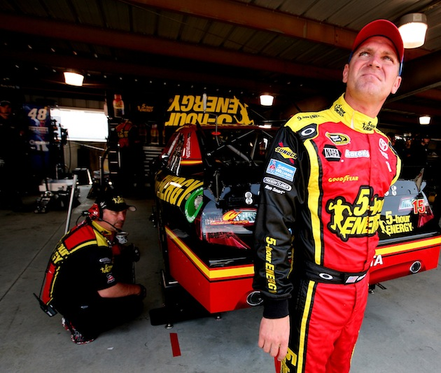 Clint Bowyer will have this firesuit on in all but one race in 2012. (Getty)
