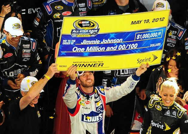 If a driver wins all five All-Star Race segments, that check could be for $2 million. (Getty)