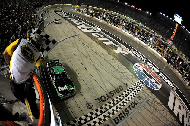 Denny Hamlin's win at Bristol made it a nice round career win total for the No. 11 (Getty)